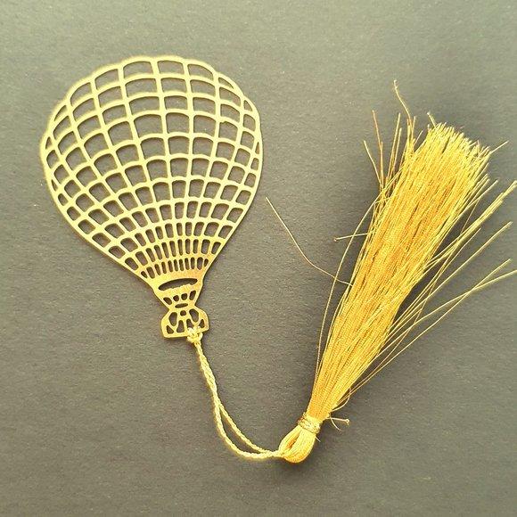 Bookmark Brass metal cutting bookmarks - Parachute